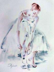 Akwarela z serii balet 54