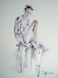 Akwarela z serii balet 55