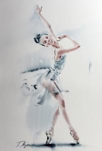 Akwarela z serii balet 56