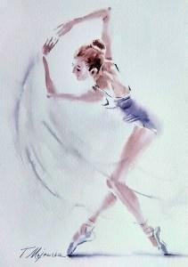 Akwarela z serii balet 58