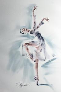 Akwarela z serii balet 59