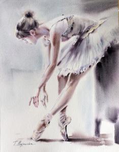 Akwarela z serii balet 6