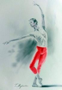 Akwarela z serii balet 60