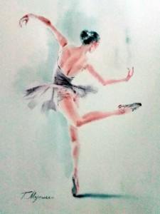 Akwarela z serii balet 61