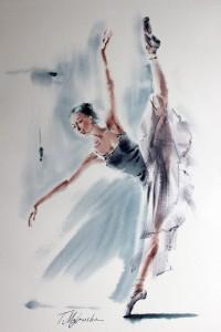 Akwarela z serii balet 62