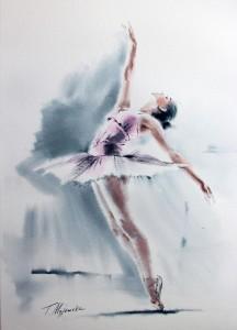 Akwarela z serii balet 65