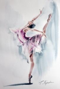 Akwarela z serii balet 66
