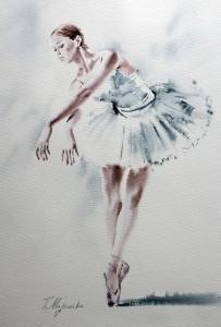 Akwarela z serii balet 67