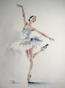 Akwarela z serii balet 68