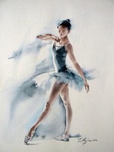 Akwarela z serii balet 69