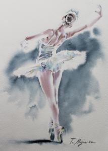 Akwarela z serii balet 7