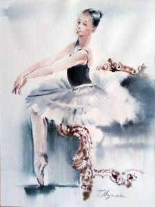 Akwarela z serii balet 70