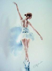 Akwarela z serii balet 71