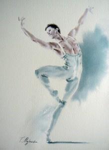 Akwarela z serii balet 74