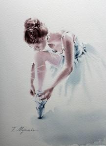 Akwarela z serii balet 75