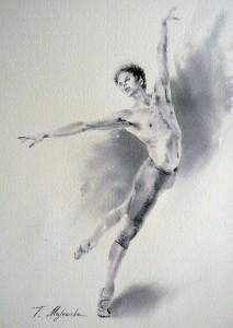 Akwarela z serii balet 76