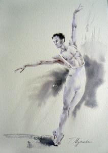 Akwarela z serii balet 78