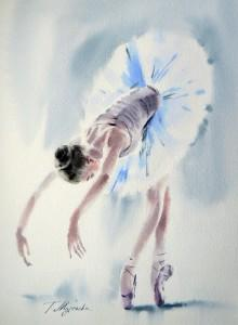 Akwarela z serii balet 79