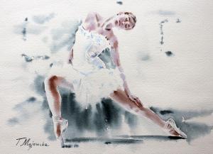 Akwarela z serii balet 8