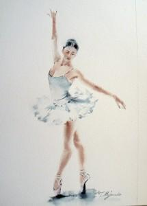 Akwarela z serii balet 80