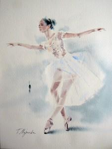 Akwarela z serii balet 81