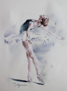 Akwarela z serii balet 9