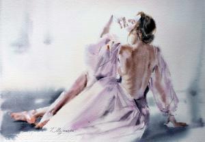 Akwarela z serii balet