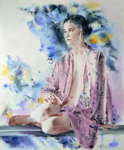 Fille-en-kimono-roseGirl-in-pink-kimono-70x50