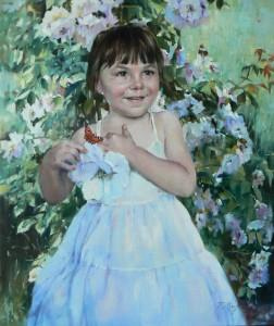Dziewczynka--kwiatuszek46x55olp2015